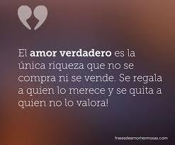 El amor verdadero es la unica riqueza que no se compra