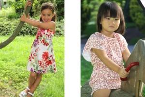 niñas con ropa de primavera-verano