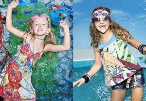 niñas luciendo ropa de primavera-verano