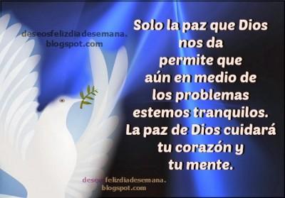 Dios da paz en medio de problemas frases aliento