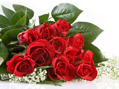 Imagen de un ramo de rosas rojas